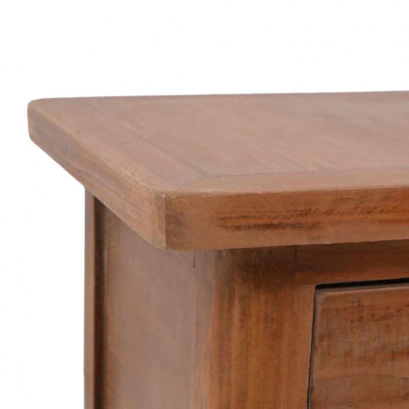 d2a9f3addf9 vidaXL VX246123 Mesita de noche madera maciza de abeto 40x29x68 cm ...