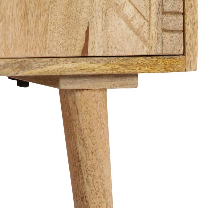 vidaXL Armarios y almacenamiento Aparador de madera maciza de mango 120x30x60 cm