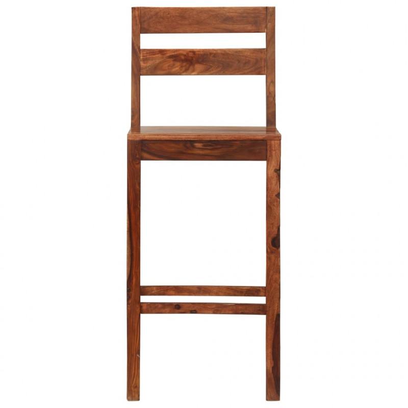 VidaXL Fauteuils et chaises Chaises de bar 2 pcs Marron Bois solide de Sesham