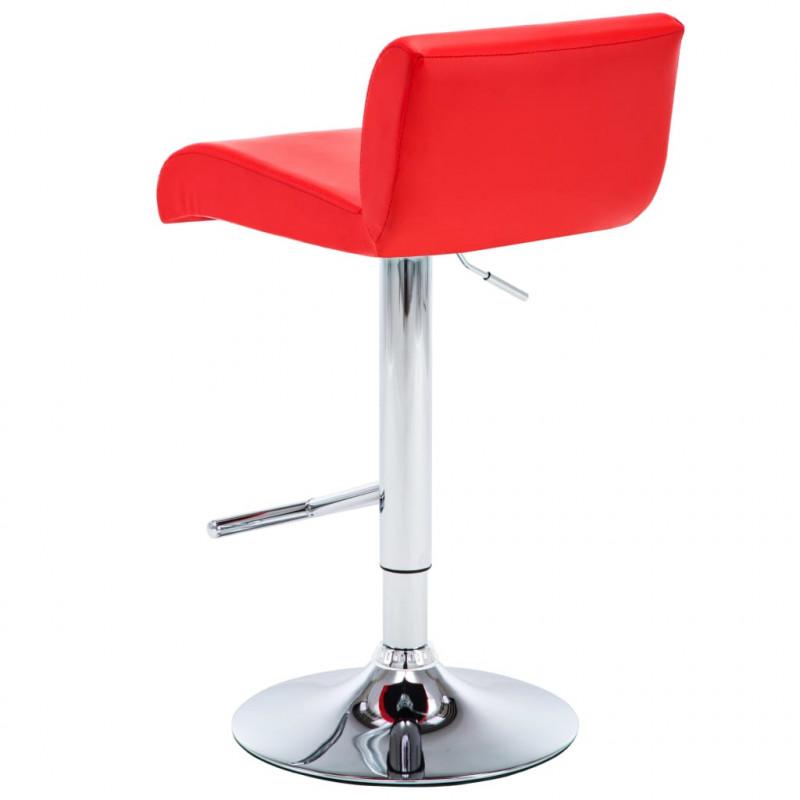 Rouge VidaXL Chaise bar pcs Similicuir Fauteuils de 2 PwXiOZTku