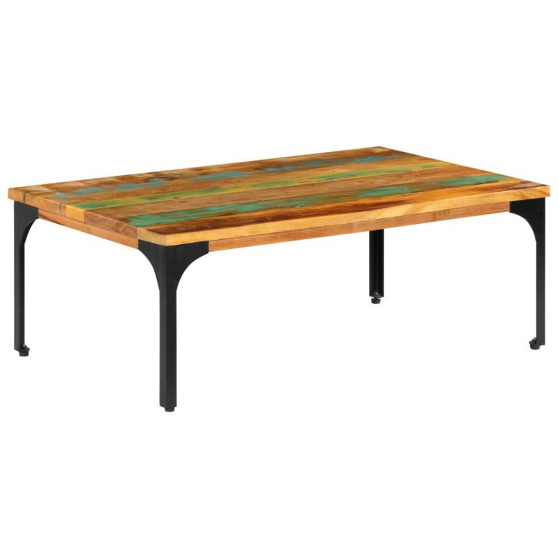 VidaXL Arredamento Casa Cucina Tavolino da Caffè 100x60x35 cm Legno  Massello di Recupero