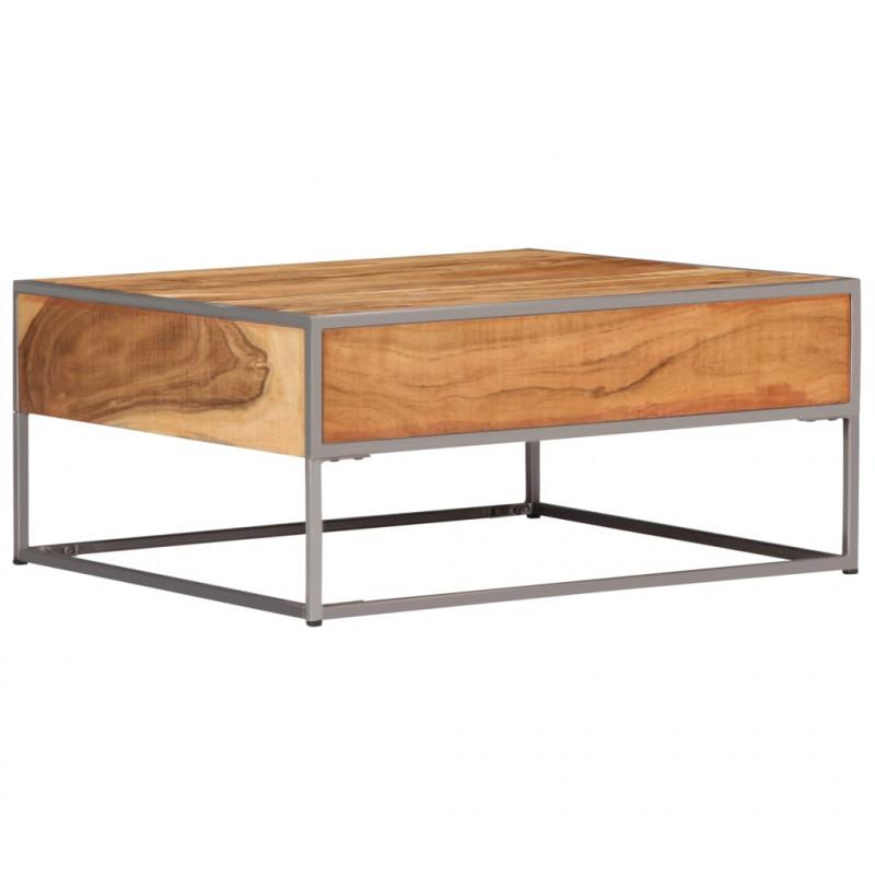 Vidaxl Tavolino Da Caffe 75x75x35 Cm In Legno Massello Di Acacia Arredamento Casa Cucina Epto