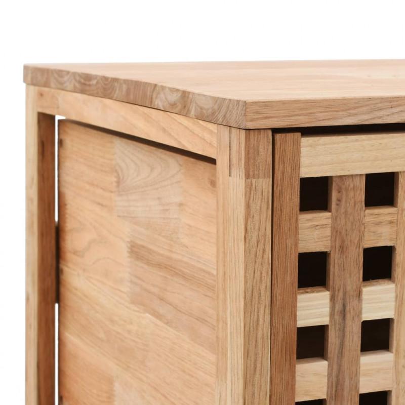 vidaXL Armarios y almacenamiento Armario de cuarto de baño 41x41x91 cm  madera maciza de nogal