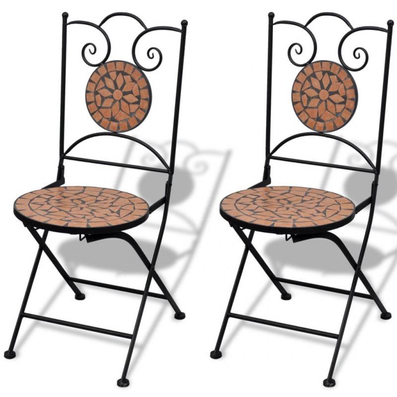 Tavolo Da Giardino Con Mosaico.Vidaxl Arredo Giardino Tavolo Da Bistro 60 Cm Con Mosaico E 2