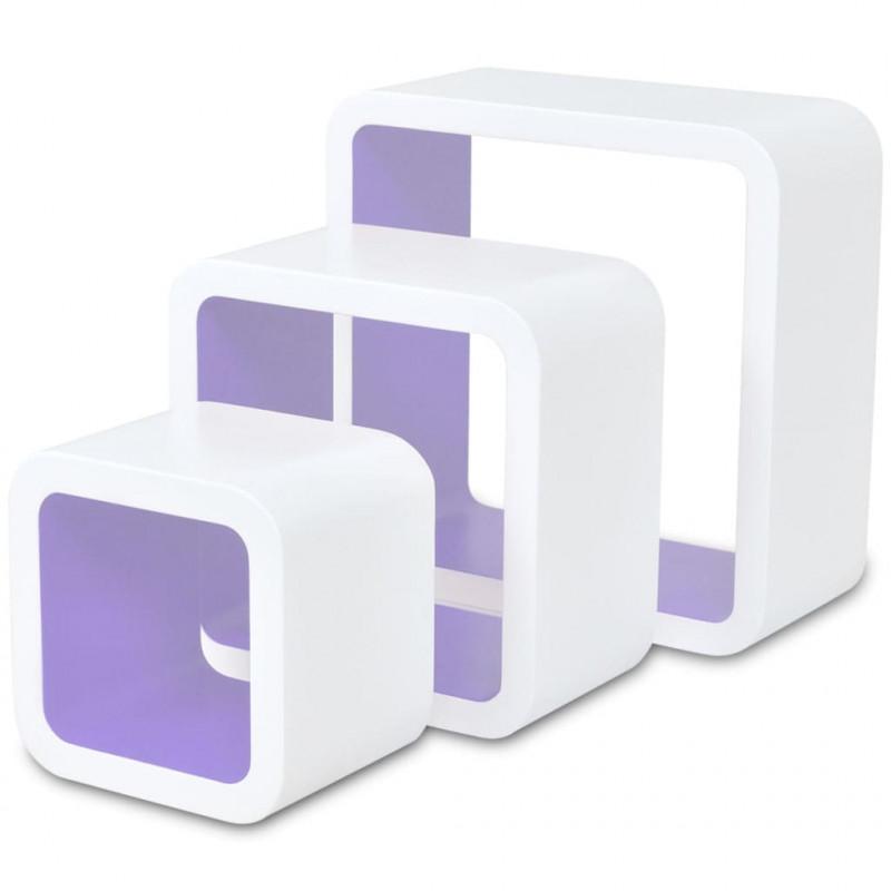 Vidaxl Vx275986 Para Y Estanterías Cubos De 6 Blanco Pared Unidades Y6ymIgvbf7