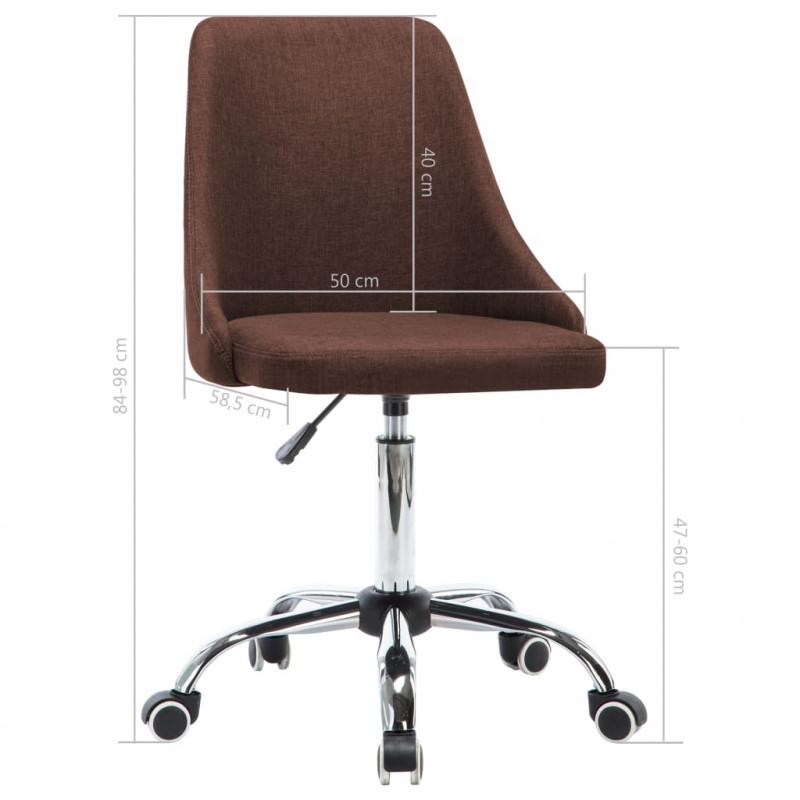 VidaXL Meubles de bureau Chaises de bureau roulantes 2 pcs Tissu Marron