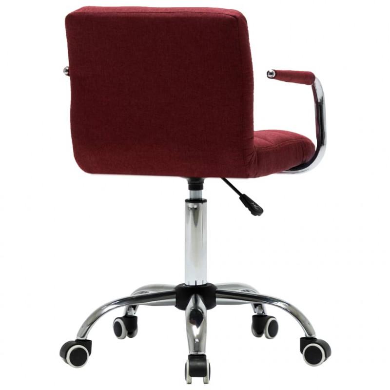 VidaXL Fauteuils et chaises Chaises pivotantes de salle à manger 6 pcs Rouge bordeaux Tissu