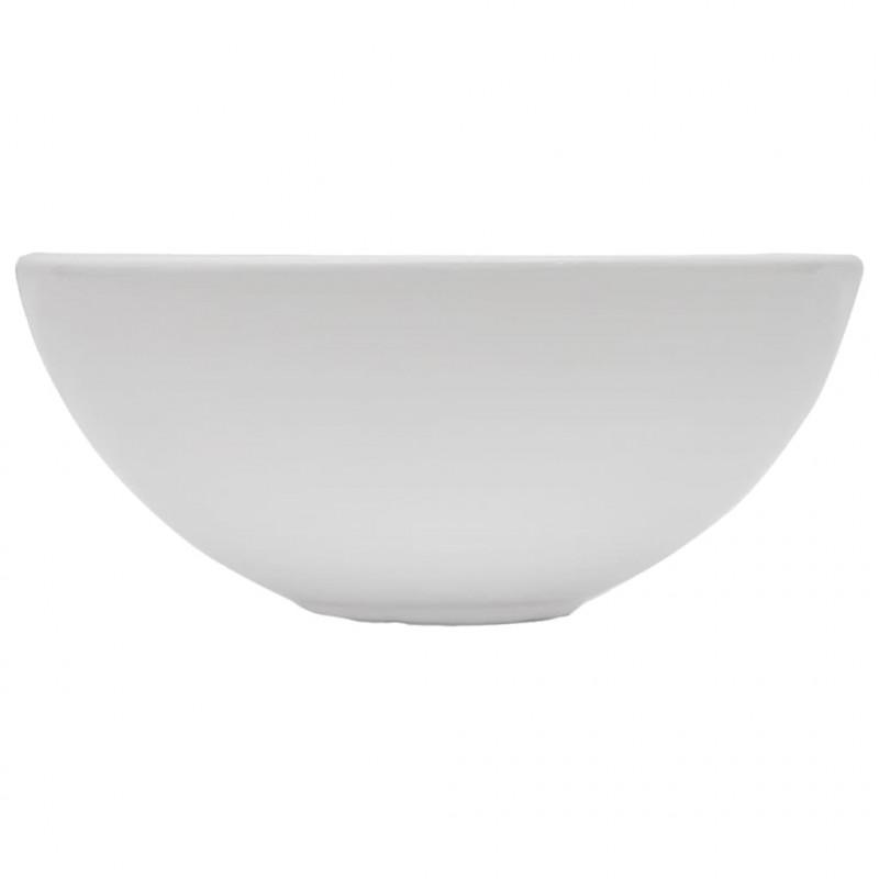 vidaXL Set Mobili da Bagno 2 pz Stabile e Durevole Elegante Mensola a Muro con Lavabo Lucido in Ceramica Grigio Piano in Truciolato e Metallo