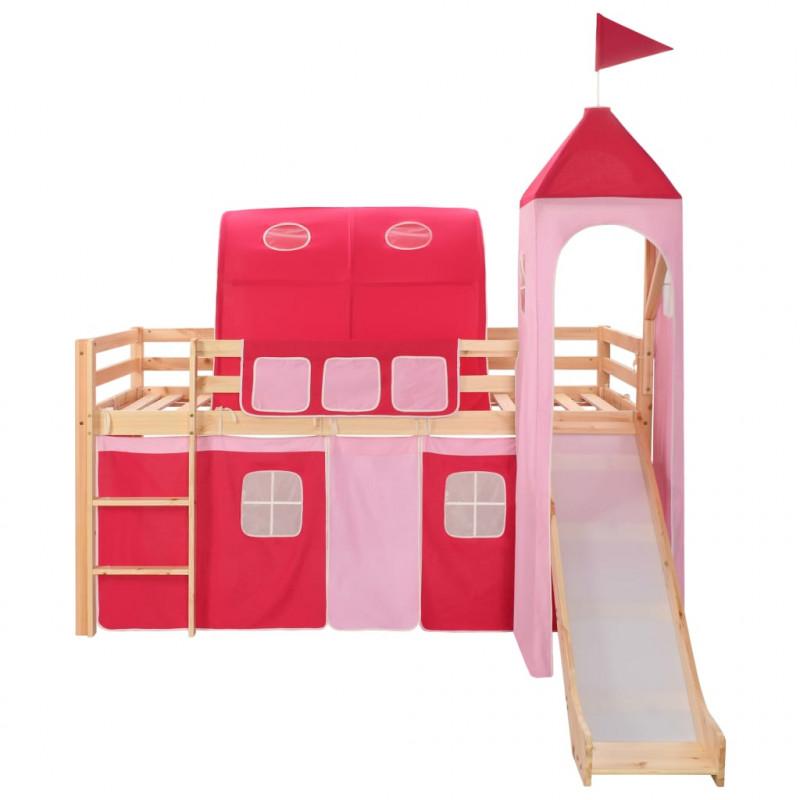 VidaXL Letto a castello per bambini scivolo e scala in ...