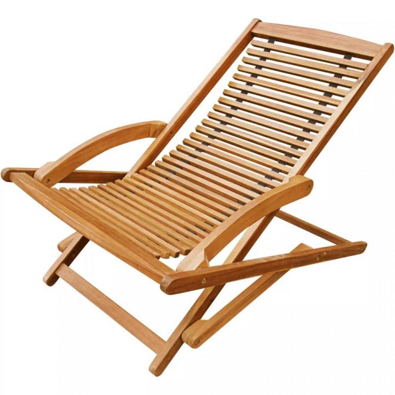 Bois Repose D'acacia Vx41806 Chaise De Terrasse Avec Vidaxl Pied FK1lJc
