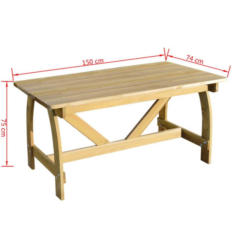 VidaXL VX41962 Table de jardin bois de pin imprégné fsc - VX41962 - Epto