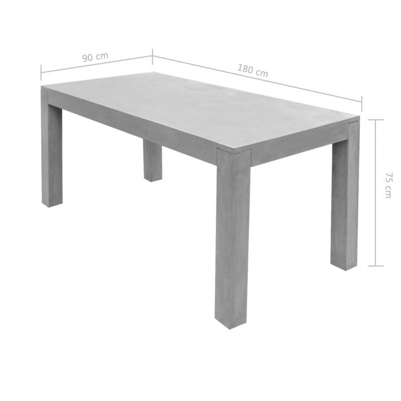 Tavoli Da Esterno In Cemento.Vidaxl Vidaxl Tavolo Da Pranzo Per Esterno Rettangolare In Cemento