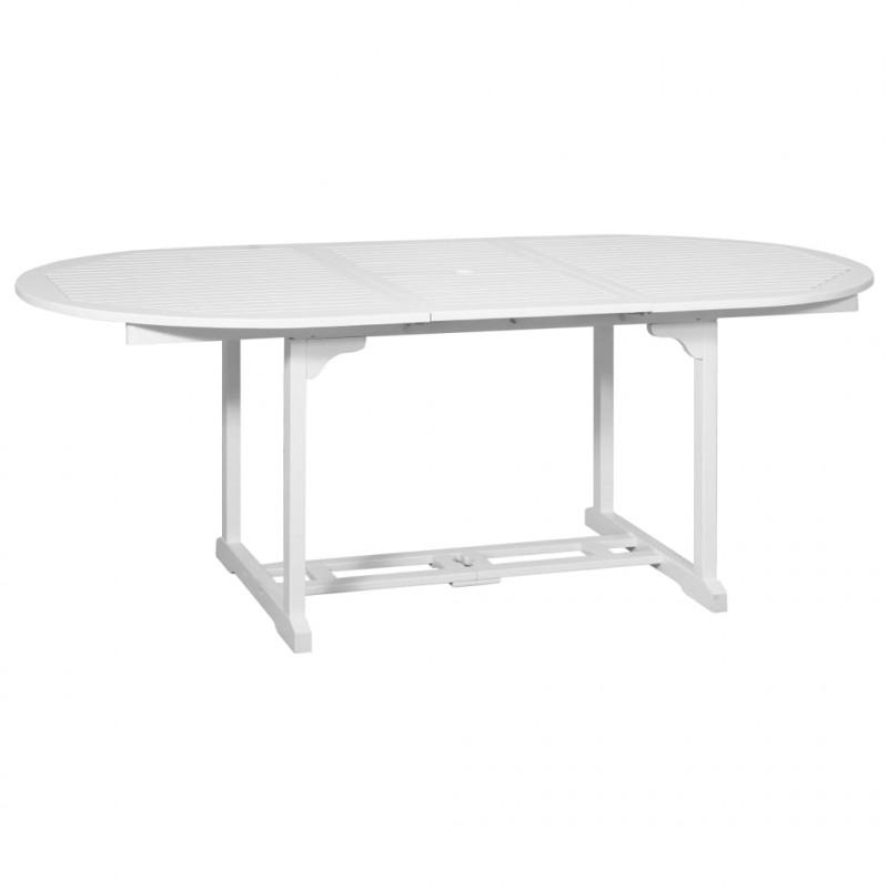 Tavolo Esterno Allungabile Bianco.Vidaxl Set Pranzo Per Esterni 7pz Legno Bianco Con Tavolo