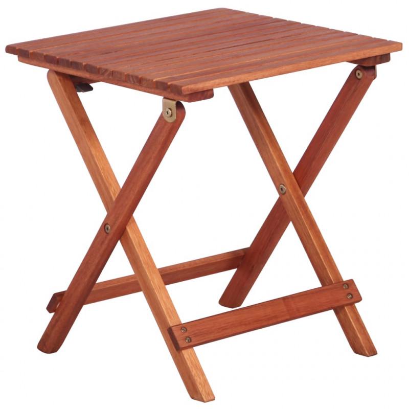 vidaXL Muebles de jardín Mesa y sillas de jardín para niños 3 pzas madera de eucalipto