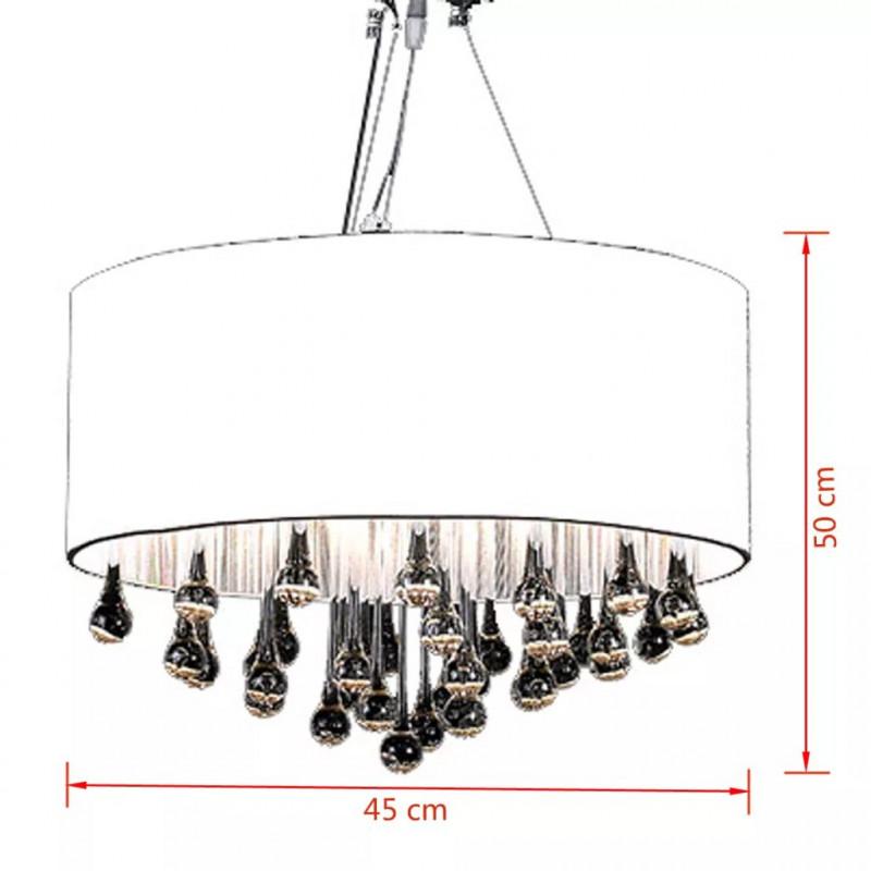 Lámpara Cristales Vidaxl Con De TechoBlanca 85 Iluminación Colgante n8kX0OwP