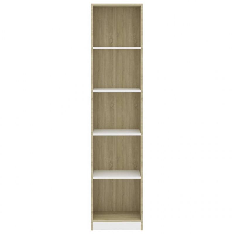 vidaXL Libreria a 5 Ripiani Bianca 40x24x175 cm in Truciolato