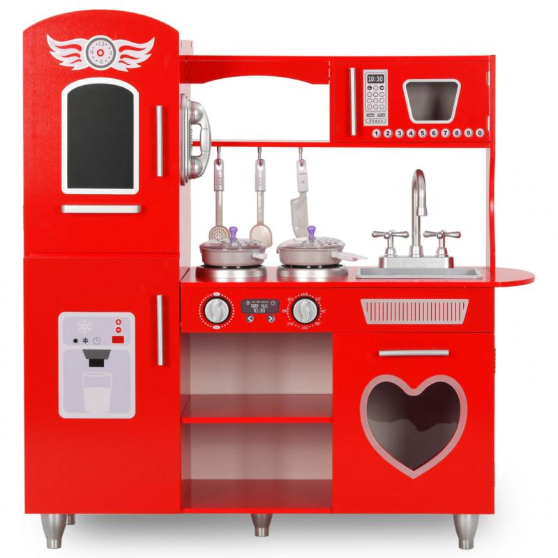 VidaXL Produits ménagers Cuisine en jouet pour enfants MDF 84x31x89 cm Rouge