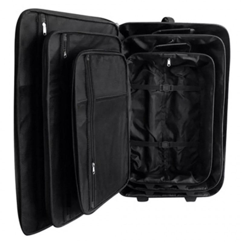 1a1fc0d87 vidaXL VX90154 Juego de maletas de viaje 5 piezas negro - VX90154 - Epto