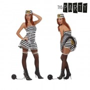Costume per Adulti Th3 Party Carcerata sexy XL