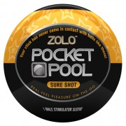 Zolo Masturbatore Pocket Pool Sure Shot Zolo ZOLOPPSS