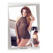 Baby Doll Velato Nero ML