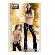 Black Level Pantaloni Glossy Hose Nero L