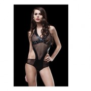 Shine Collection Lingerie Body Sexy Nero a Rete Giusy Unica