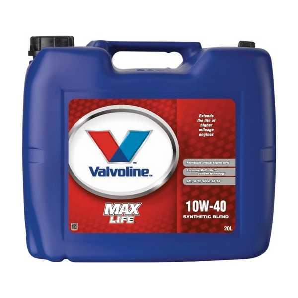 valvoline maxlife 10w 40 huile de moteur 20 litress bidon 435 14814947 epto. Black Bedroom Furniture Sets. Home Design Ideas